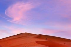令人难忘的图象在摩洛哥沙漠 图库摄影