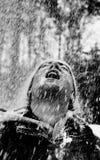 人雨雪 免版税图库摄影