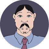 人面孔髭 库存照片