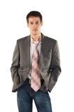 人领带年轻人 图库摄影