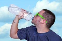 人饮用水 免版税库存照片
