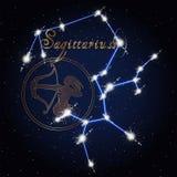 人马座黄道带的占星术星座 库存照片