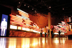 人们、显示和人权博物馆 免版税库存图片