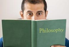 人读书哲学 免版税图库摄影