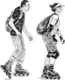 人滑冰的年轻人 免版税库存照片