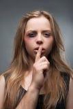 人暴力反对妇女的 库存照片