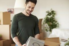 人移动的新的家 免版税图库摄影