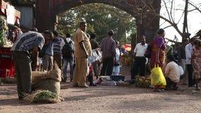 人们在一个地方市场上在果阿 影视素材