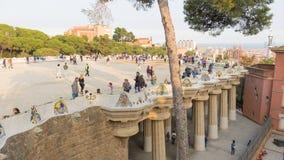 人们在公园Guell 库存图片