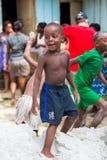 人们在利伯维尔,加蓬 库存图片