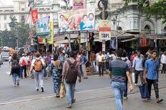 人们在加尔各答,印度 图库摄影