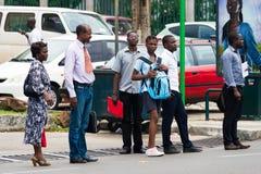 人们在加蓬 免版税库存图片