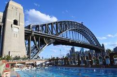 人们在北部悉尼奥林匹克水池悉尼新南威尔斯A游泳 免版税图库摄影