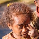 人们在安塔那那利佛,马达加斯加 库存照片