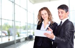 人们在工作在业务会议期间 免版税库存照片