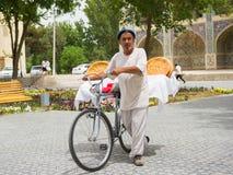 人们在布哈拉,乌兹别克斯坦 免版税库存图片