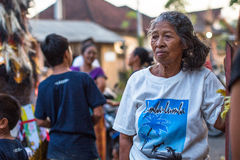 人们在庆祝Nyepi -沈默巴厘语天时  免版税图库摄影