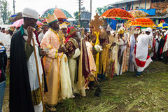 人们在拉利贝拉,埃塞俄比亚 免版税图库摄影
