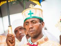 人们在拉利贝拉,埃塞俄比亚 库存图片