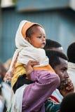 人们在拉利贝拉,埃塞俄比亚 图库摄影