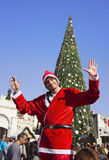 人们在拿撒勒庆祝圣诞节 图库摄影
