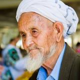 人们在撒马而罕,乌兹别克斯坦 免版税图库摄影