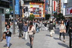 人们在日本 库存照片