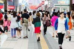 人们在札幌 免版税库存图片