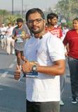 人们在海得拉巴10K跑事件,印度 图库摄影