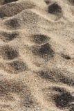 人们在海滩的沙子走了La Bernerie enRetz (法国) 库存照片