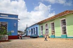 人们在特立尼达,古巴 图库摄影