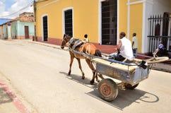 人们在特立尼达,古巴 库存图片