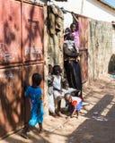 人们在班珠尔,冈比亚 免版税库存照片