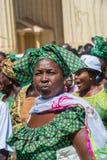 人们在班珠尔,冈比亚 免版税图库摄影