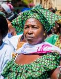 人们在班珠尔,冈比亚 库存照片