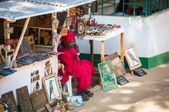 人们在班珠尔,冈比亚 免版税库存图片