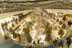 人们在瓦斯科・达伽马购物中心 免版税库存图片