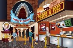 人们在电影院 免版税库存图片