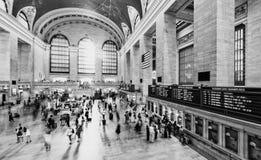 人们在盛大中央终端,纽约 免版税图库摄影
