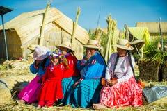 人们在秘鲁 免版税库存图片