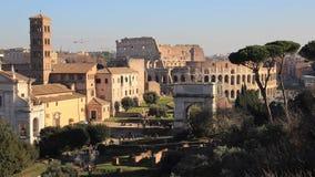 人们在罗马广场 股票录像