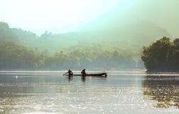 人们在老挝 免版税图库摄影