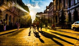 人们在阳光下 免版税库存照片