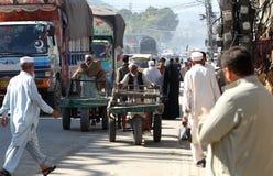 人们在巴基斯坦-日常生活 免版税库存照片
