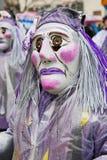 人们在巴塞尔狂欢节参与在巴塞尔,瑞士 免版税库存照片