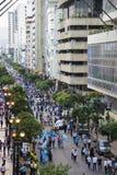 人们抗议反对厄瓜多尔政府 库存照片