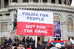 人们抗议反对政府 库存照片