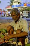 印第安农村市场 图库摄影