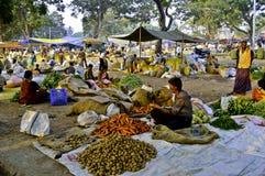 印第安农村市场 免版税库存照片