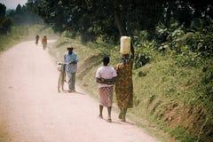 农村场面在非洲 库存图片